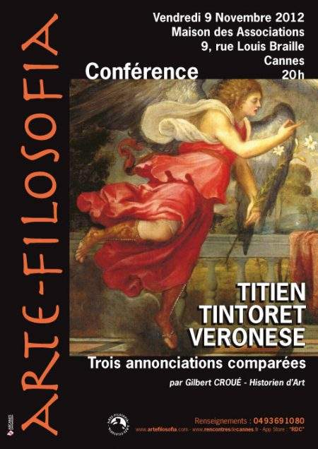Titien Tintoret Veronese «Trois annonciations comparées»
