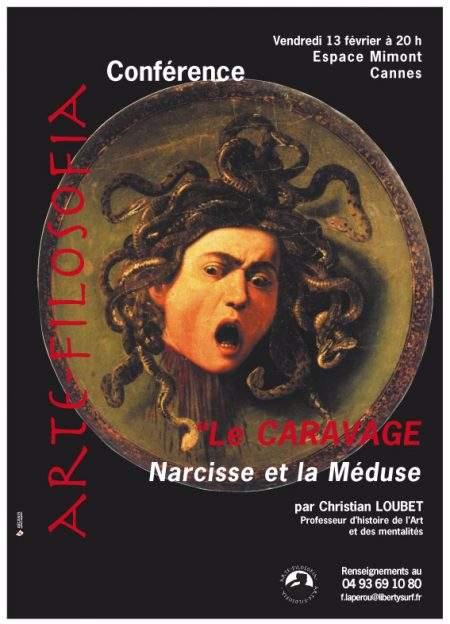 Le CARAVAGE, Narcisse et la Méduse