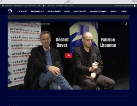 EXCLUSIVITÉ Arte-Filosofia : ITW de Gérard DAVET & Fabrice LHOMME