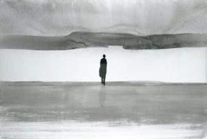 Gao Xingjian 2004 l'attente encre sur papier de riz 146x207