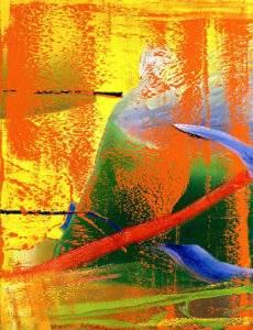 Gerhard Richter 1982 Orangerie détail Huile sur toile 260x200 Musée d'art moderne Toyama Japon