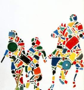 Tony Cragg 1987 Emeute 2,35x15,5 x70 (détail) Saatchi Londres