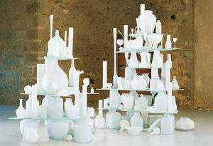 Tony Cragg 1998 paysage érodé verres