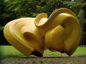 Tony Cragg 2004 Déclination 2 bronze peint 240x231x360