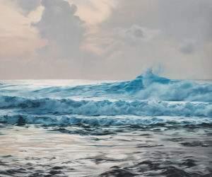 Zaria Forman 2014 Maldives N°7 pastel sur papier 51x60