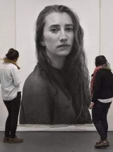 Clio Newton portrait de Nina 2016 fusain