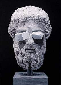 Daniel Arsham, 2010, Les yeux de Zeus, gouache sur calque, 233,5x187