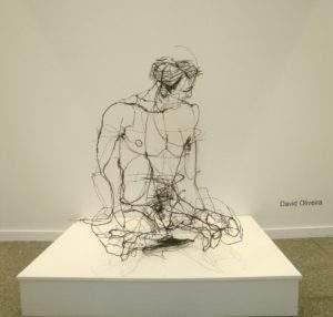 David Oliveira étude d'homme fil de fer