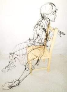 David Oliveira enfant sur une chaise 2012 fil de fer