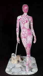 Joana Vasconcelos, 2005, promenade, fibre de verre et crochet 190x160x150 - Copie