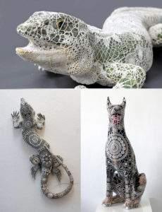 Joana Vasconcelos, diverses pièces, céramique et crochet