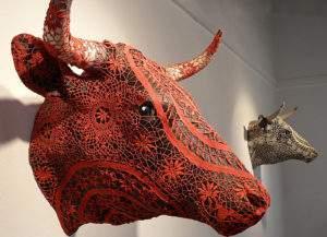 Joana Vasconcelos, le bestiaire préféré, céramique et crochet - Copie