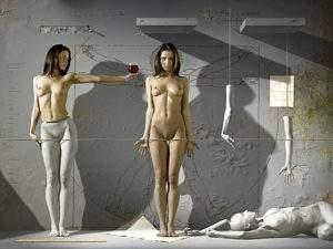 Max Sauco, 2009, les filles de Vitruve, technique mixte et photographie - Copie