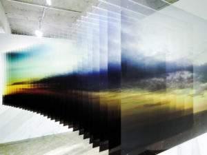 Nobuhiro Nakanishi,2012, Tokyo sunrise, 100x100x700