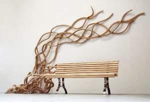 Pablo Reinoso, 2010, banc spaghetti, bois