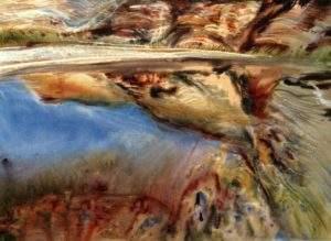 Ewa Karpinska, ,2008, Maroc, calme tellurique, aquarelle, 100x73-1