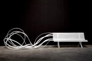 Pablo Reinoso banc blanc 2017 acier peint