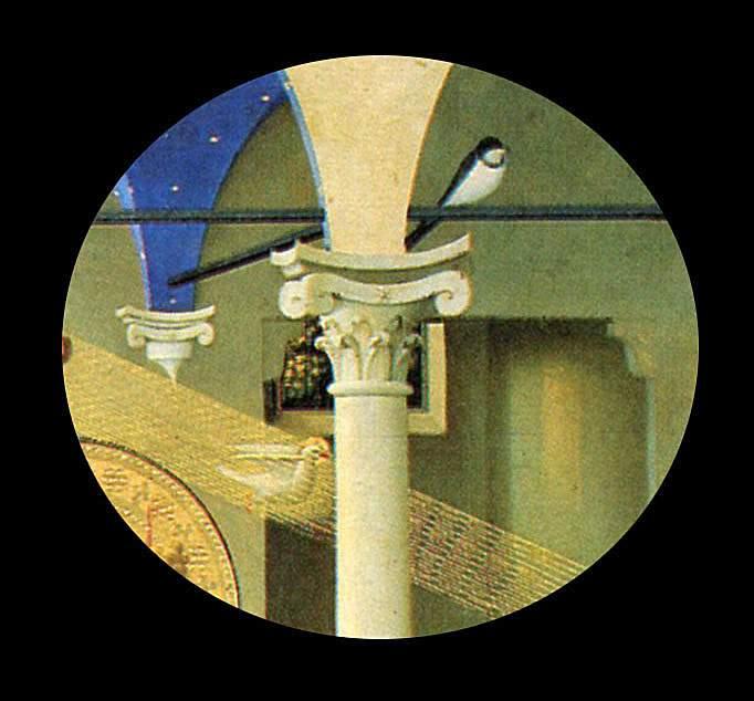 Fra Angelico, détail hirondelle