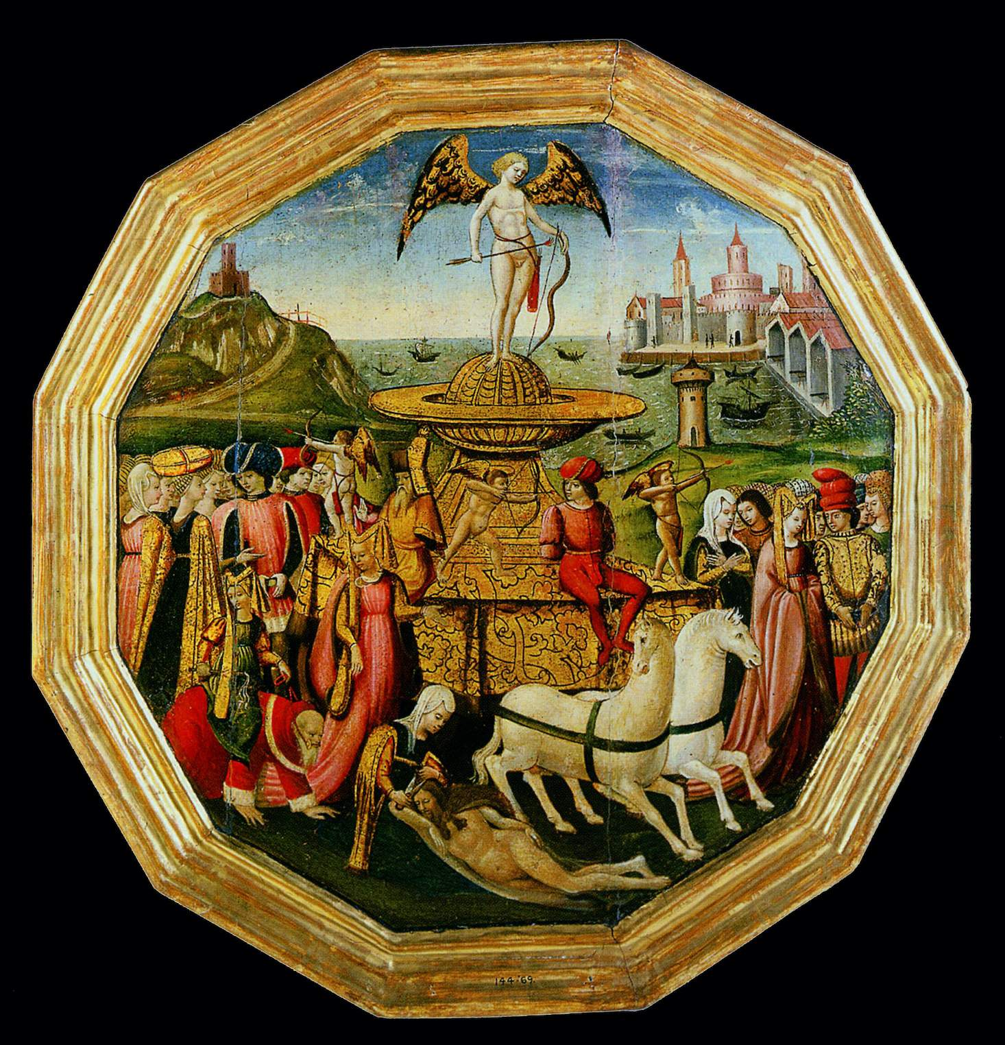 Apollonio di Giovanni, plateau d'accouchée, 1460, Victoria and Albert Museum, Londres - Copie