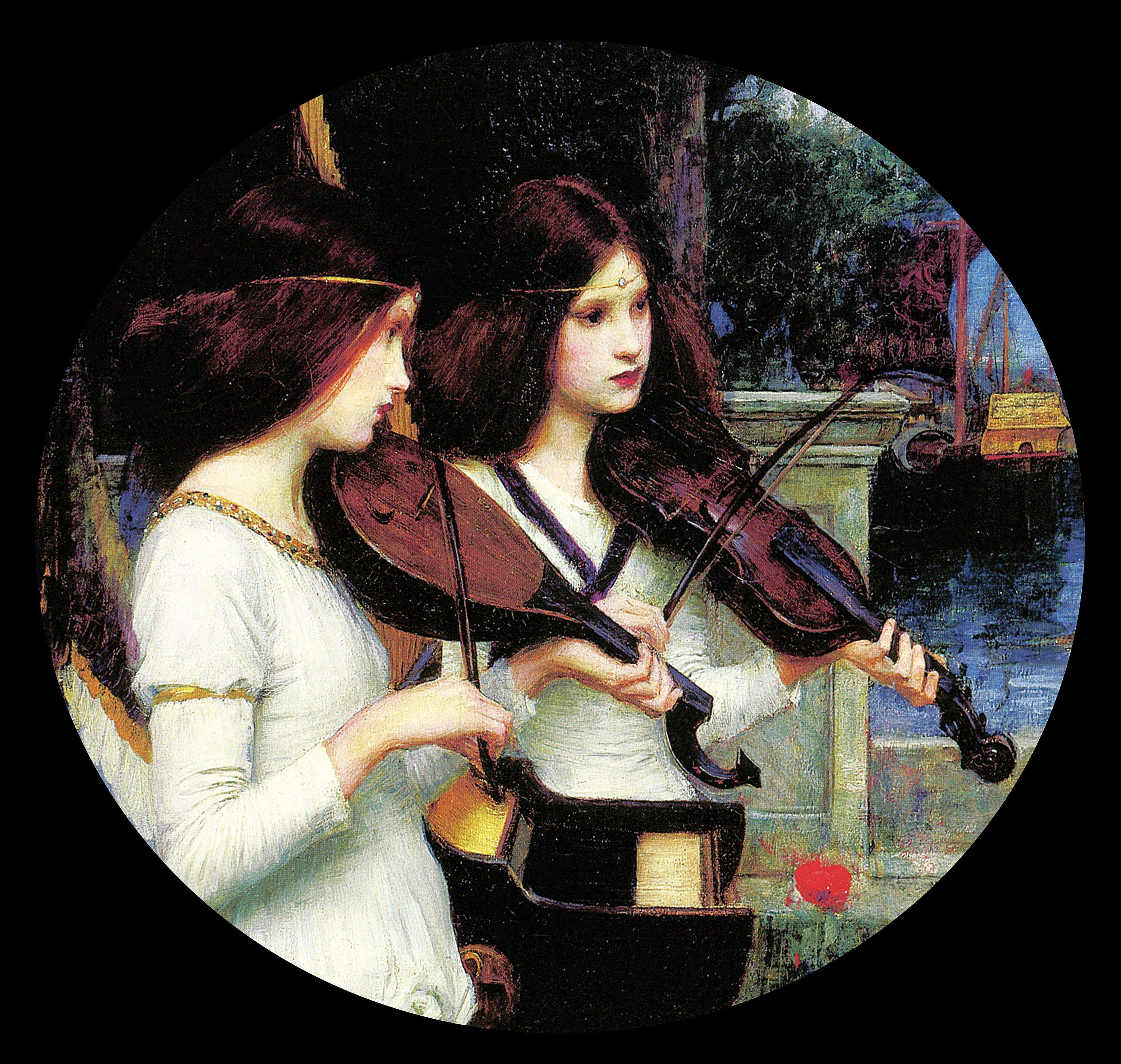 J.W. Waterhouse, Sainte Cécile, détail - Copie