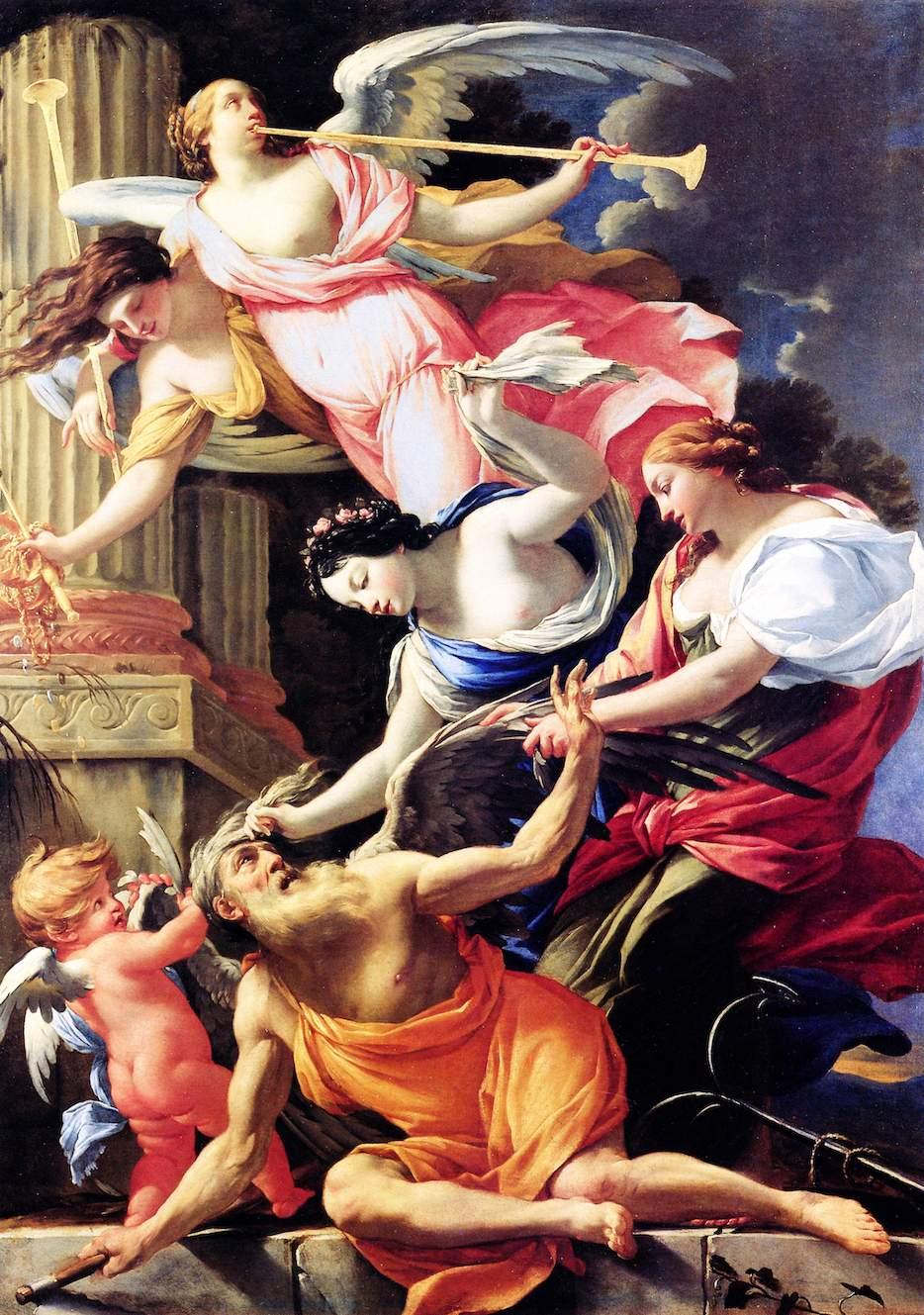 Simon Vouet Le temps vaicu, 1643-45 ht 187x142 Musée du Berry, Bourges - 3