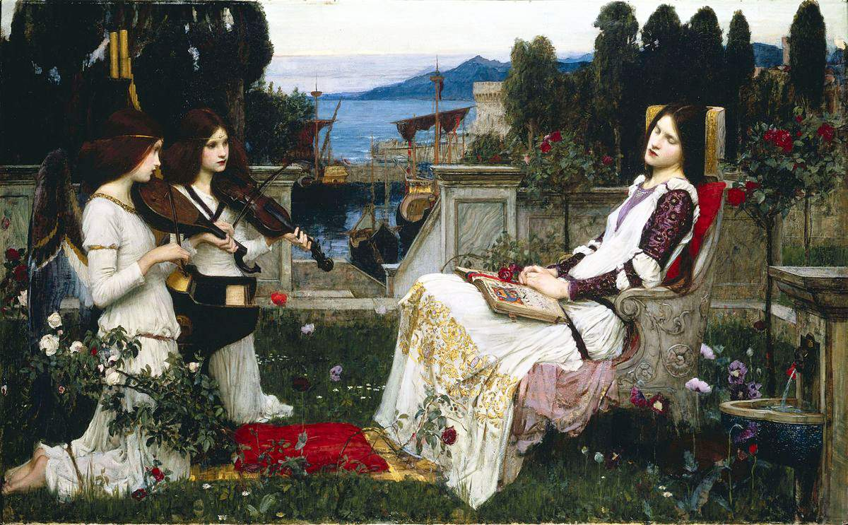 Waterhouse, Sainte Cécile, 1895, ht 123x200, CP