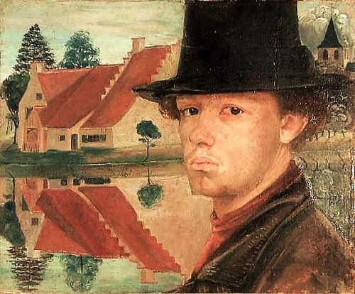 2 Gustave van de Woestyne, 1881-1947, autoportrait, 1900, ht, CP