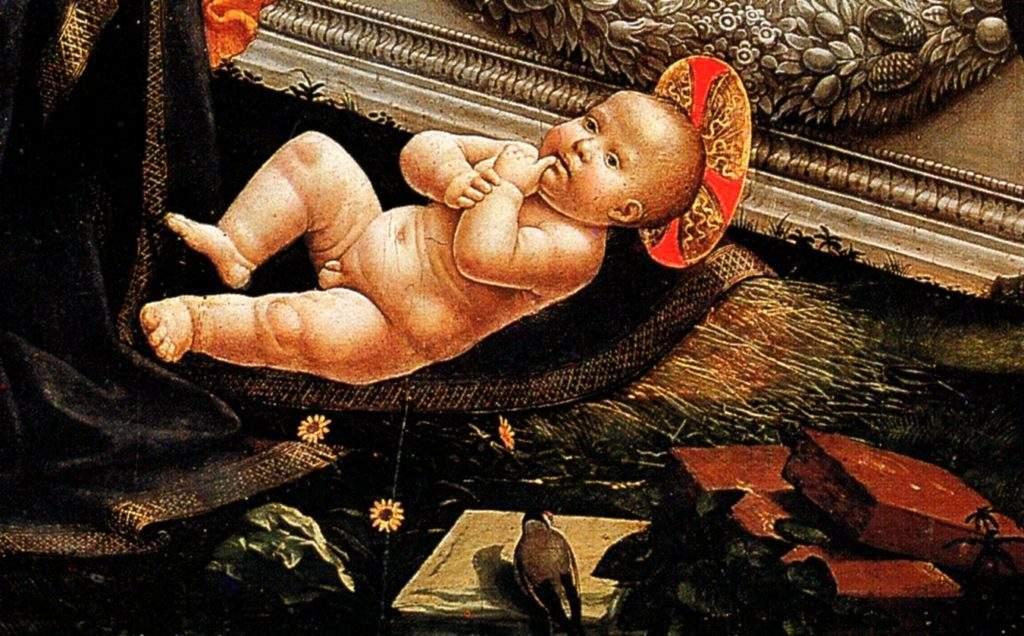 Domenicho Ghirlandaio, 1449-1494, adoration des bergers, 1485, détrempe sur bois, 167x167, Eglise de la Ste Trinité, Florence (2)