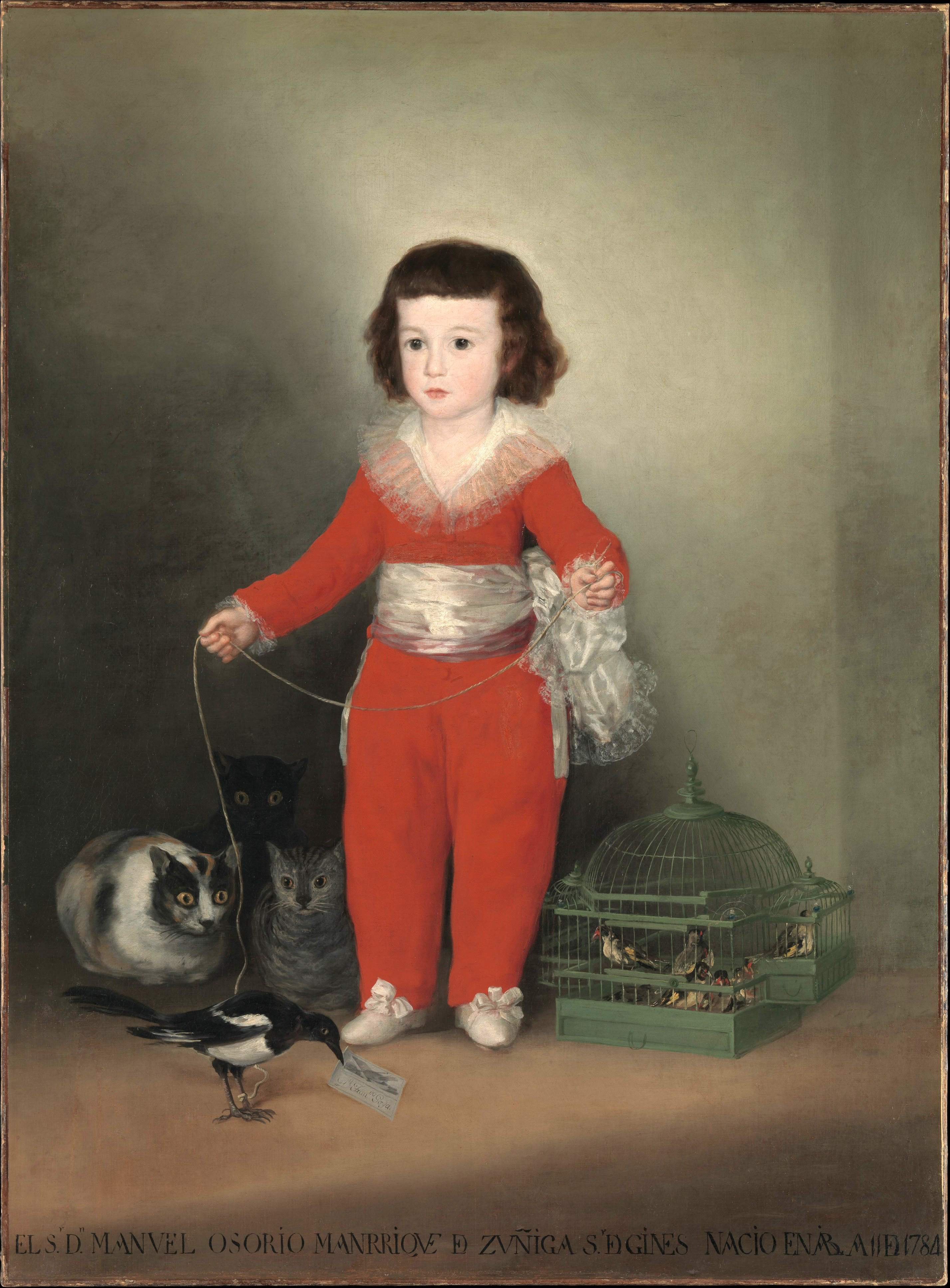 Francisco Goya, 1746-1828, Don Manuel d'Altamira, 1788, ht 127x101 MET New York
