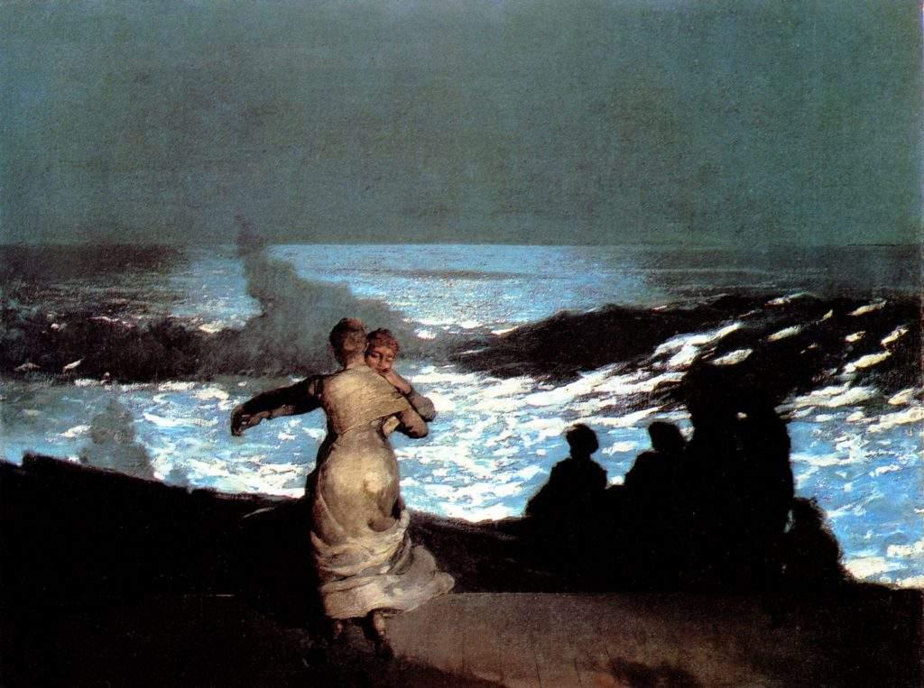 Winslow Homer, 1836-1910, USA, nui t d'été, 1890, 76,7x102, Orsay